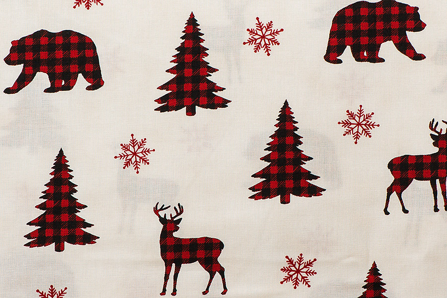 Winter Greetings Vines Stoffe Weihnachten Patchworkstoff Weihnachtsstoff Quilten